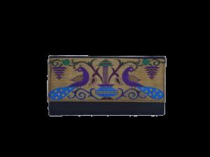 Semi Paithani flat medium purse