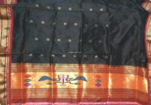 Paithani Kurti Material black