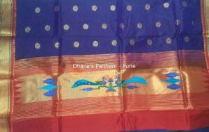 Paithani Kurti Material blue