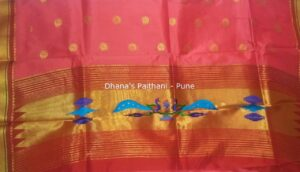 Paithani Kurti Material pink