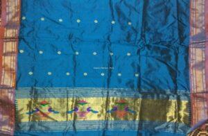Paithani Kurti Material sky blue