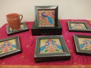Paithani Tea coasters