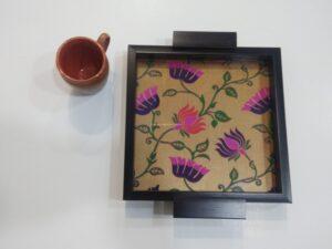 Paithani square fiber tray