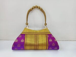 Semi paithani boat purse