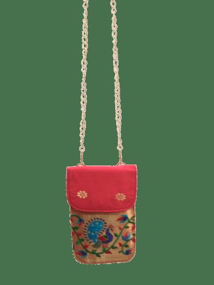 Paithani mobile sling