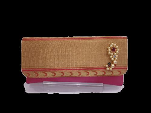 Paithani nath sling Pink