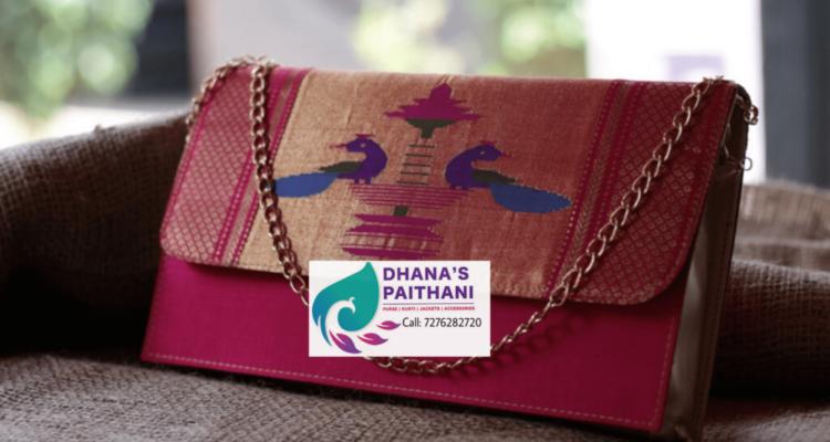 paithani purse