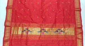 Red Paithani dupatta