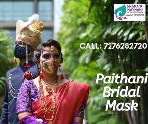 Paithani bridal Mask