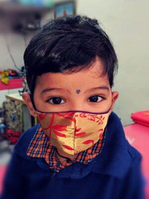 Kids Paithani Mask