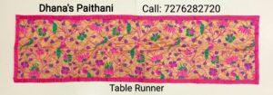 Paithani table runner