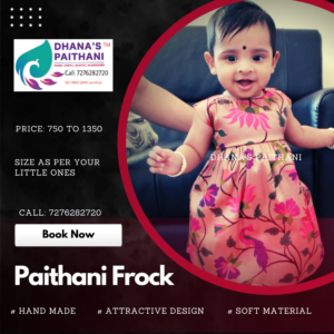 Paithani frock all over design