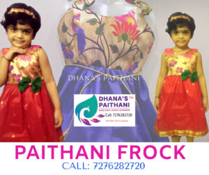 Paithani frock red