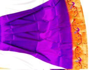 Violet paithani blouse piece