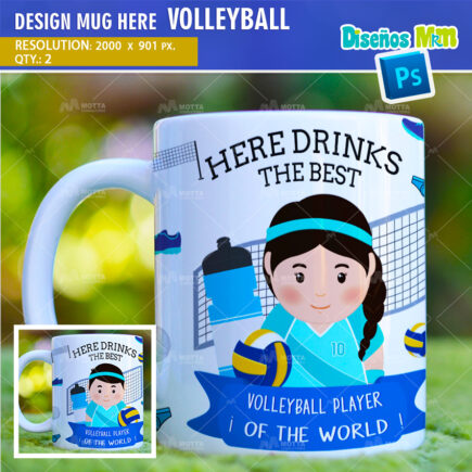 DESIGN SUBLIMATION THE BEST VOLLEYBALL PLAYER