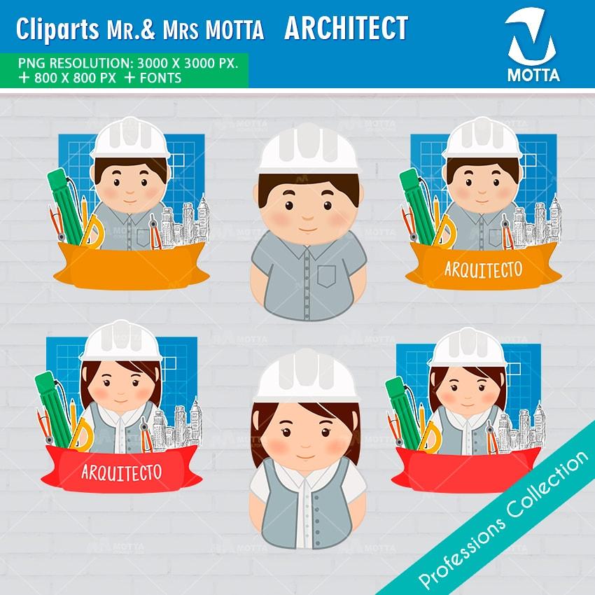 ClipArts Design Profession Architect