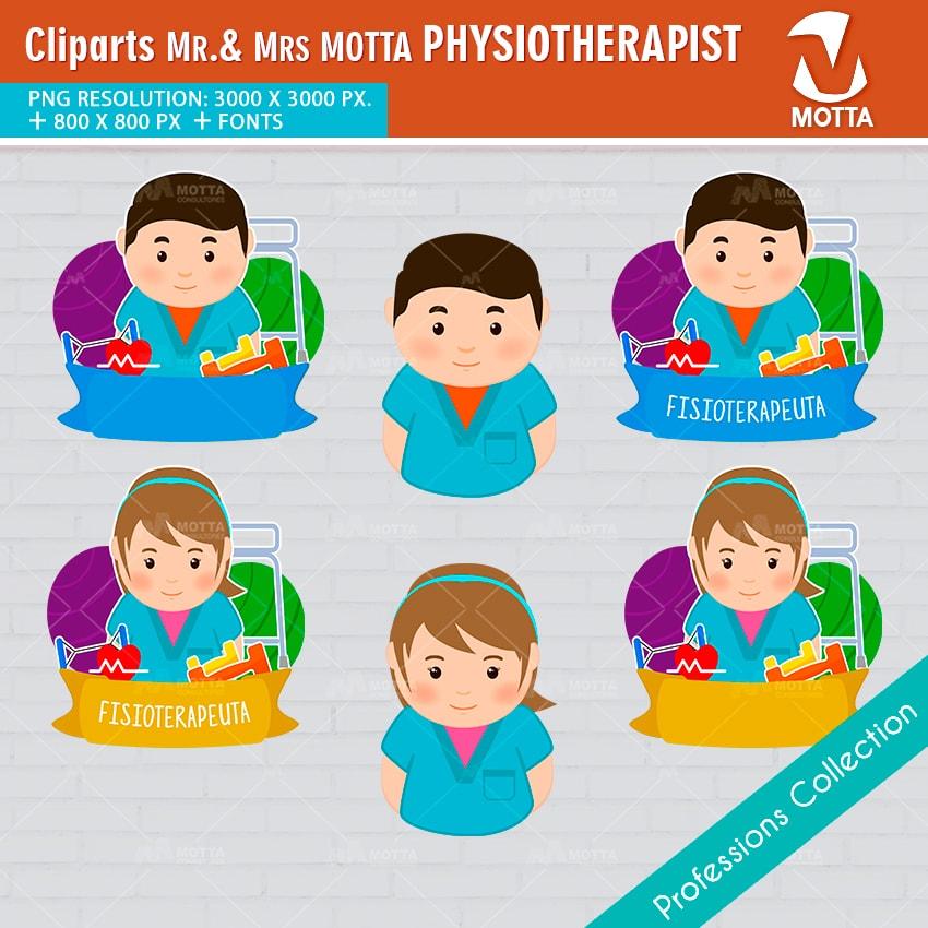 ClipArts Design Profession physiotherapist