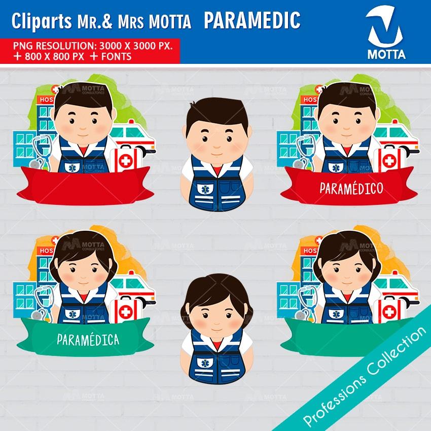 ClipArts Design Profession Paramedic