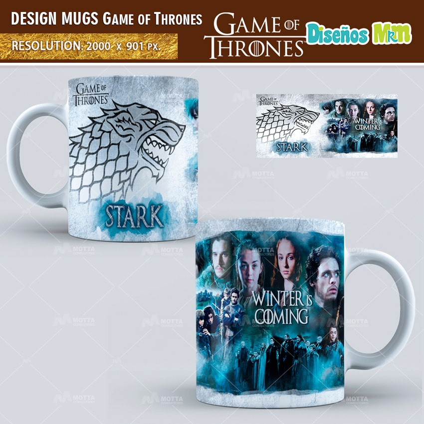 GAMES OF THRONES   DESIGN FOR SUBLIMATION THE MUGS