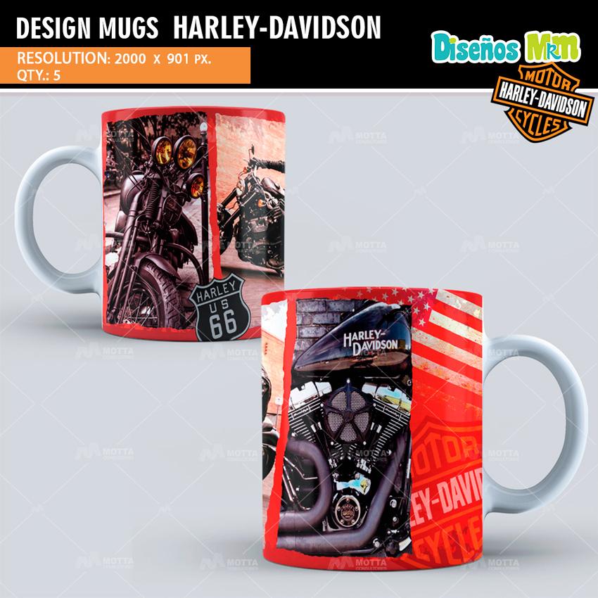 HARLEY DAVIDSON   DESIGN FOR SUBLIMATION THE MUGS