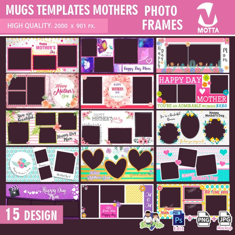 DESIGN FOR MUGS COLLAGE HAPPY MOTHER'S DAY