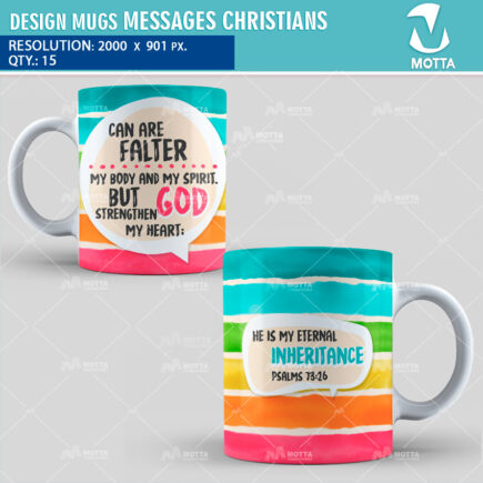 DESIGN FOR SUBLIMATION OF MUGS CHRISTIAN MESSAGES