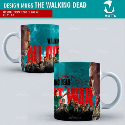 THE WALKING DEAD   DESIGN FOR SUBLIMATION THE MUGS