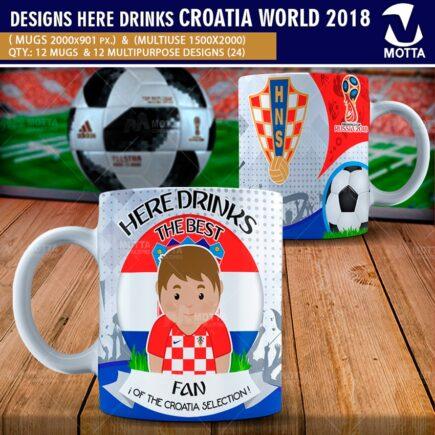 DESIGNS THE BEST FAN OF CROATIA IN RUSSIA 2018