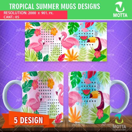 TROPICAL SUMMER DESIGN SUBLIMATION