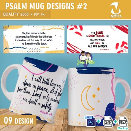 PSALMS DESIGNS TO MUGS | PART 2