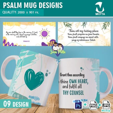 PSALMS DESIGNS TO SUBLIMATE MUGS | PART 1