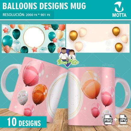 BALLOONS MUG DESIGN SUBLIMATION