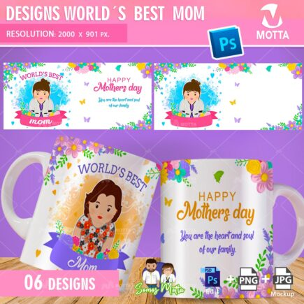 MUG SUBLIMATION TEMPLATE WORLD'S BEST MOM
