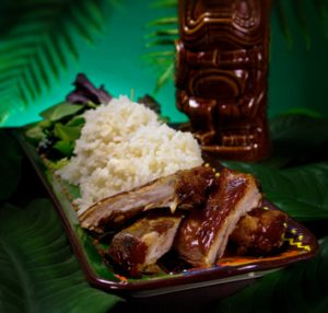 Juicy Hawaiian-style ribs with rice
