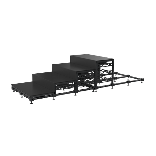 Black Marble LED Floor – Stair Risers