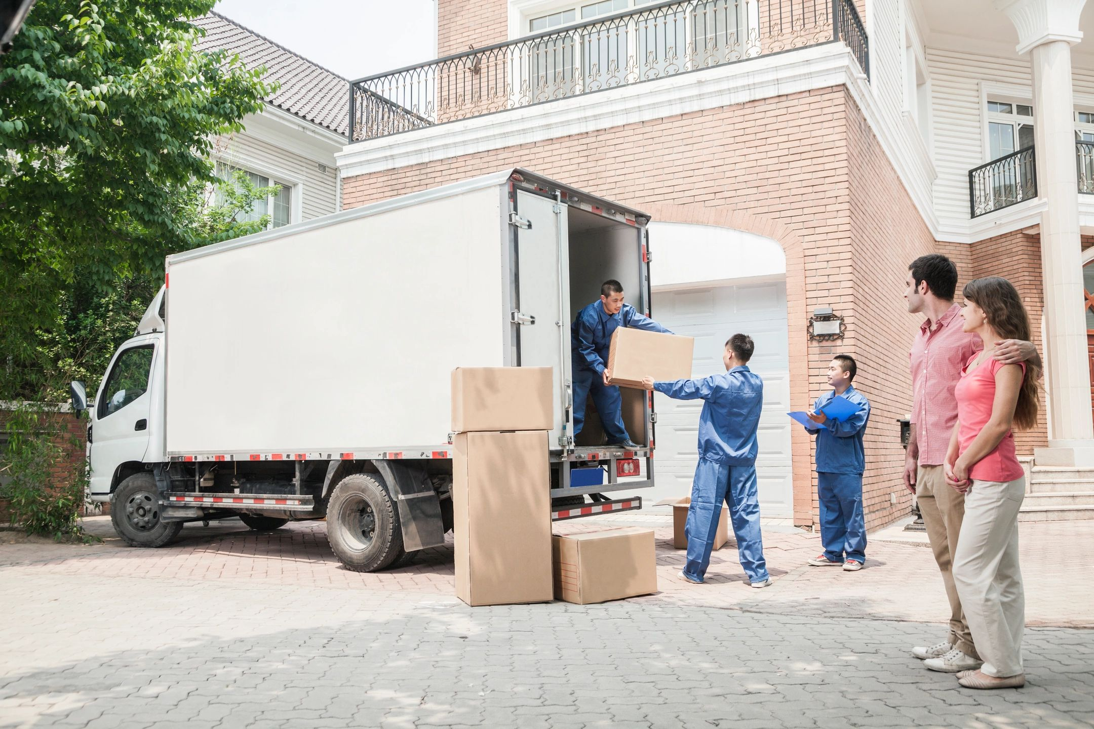 Intrastate Movers Loading Truck