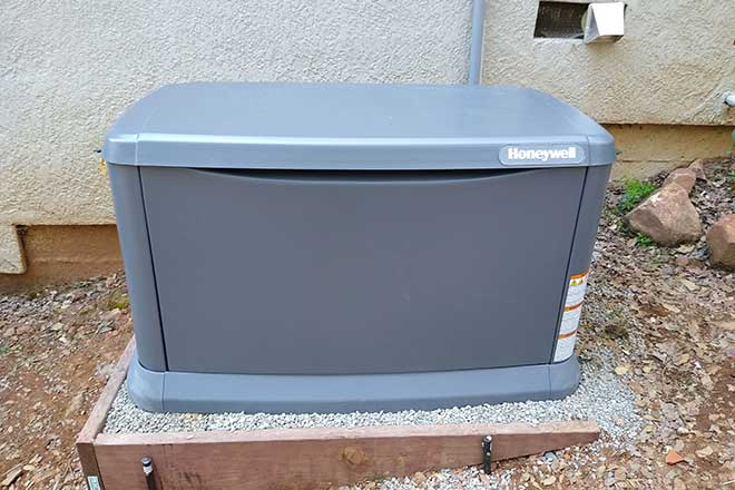 home backup generator by Honeywell