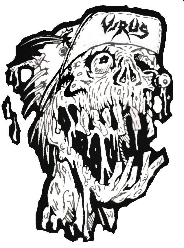 Virus Skater Skull Logo