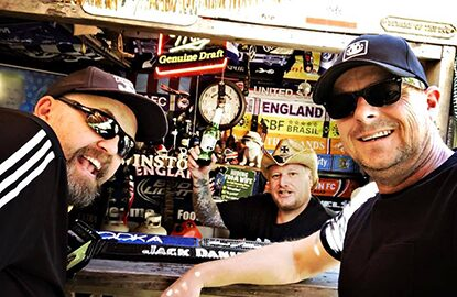 VIRUS Bassist John and Drums Tez