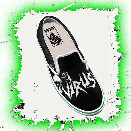 VIRUS UK Thrash Logo Vans Slipon