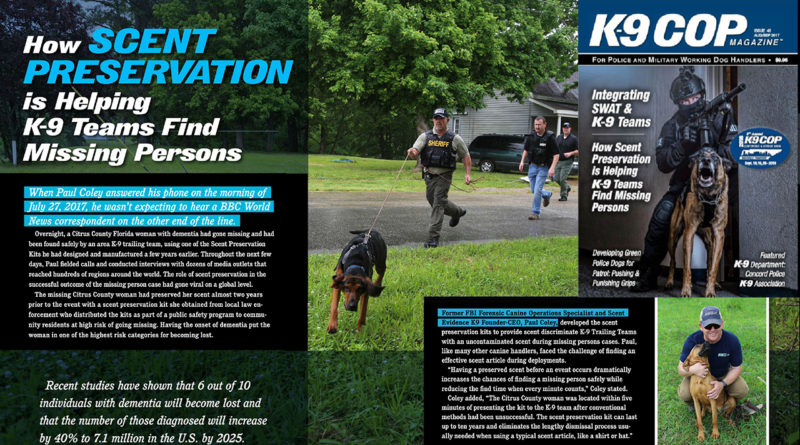 K9 Cop Scent Preservation Article