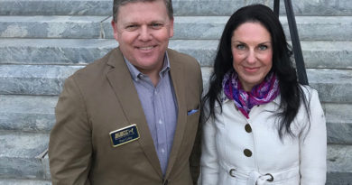 Scent Evidence K9 CEO, Paul Coley and Florida Alzheimer's Association VP, Michelle Branham