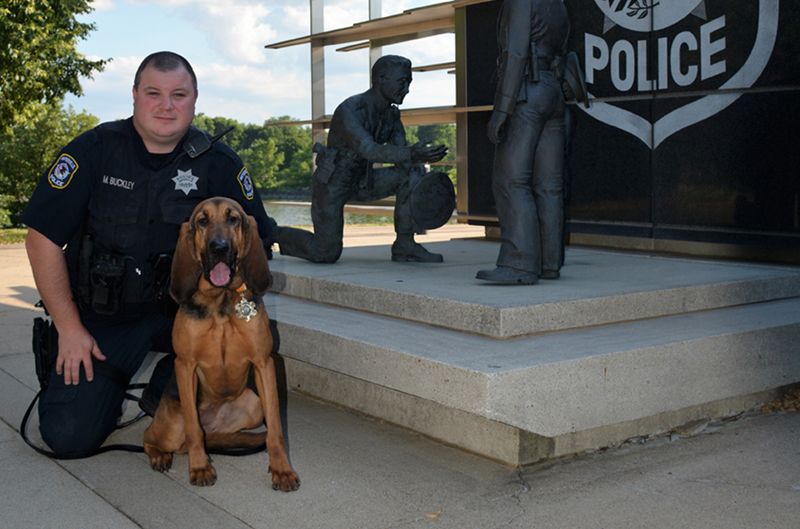 Naperville bloodhound team Trails Double Shooting Suspect