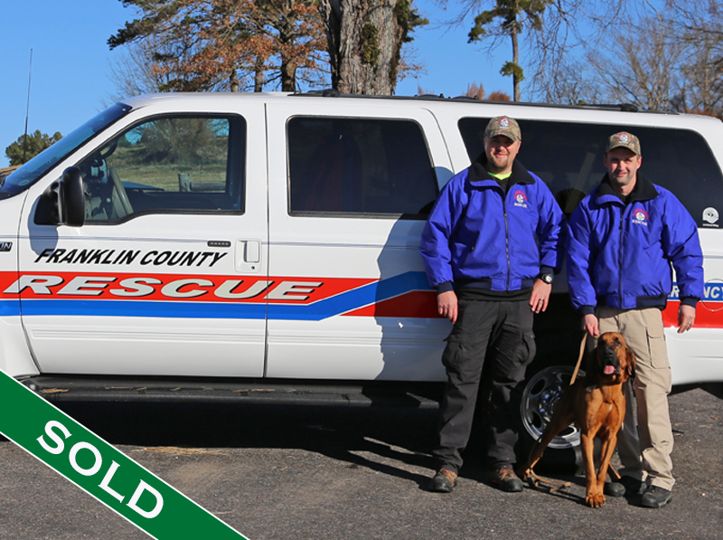Franklin County Bloodhound Ruger - Trained K9's for sale -SOLD