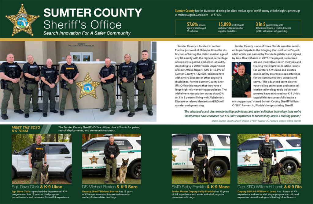 Sumter County Sheriff's Office K9 Cop Magazine Feature