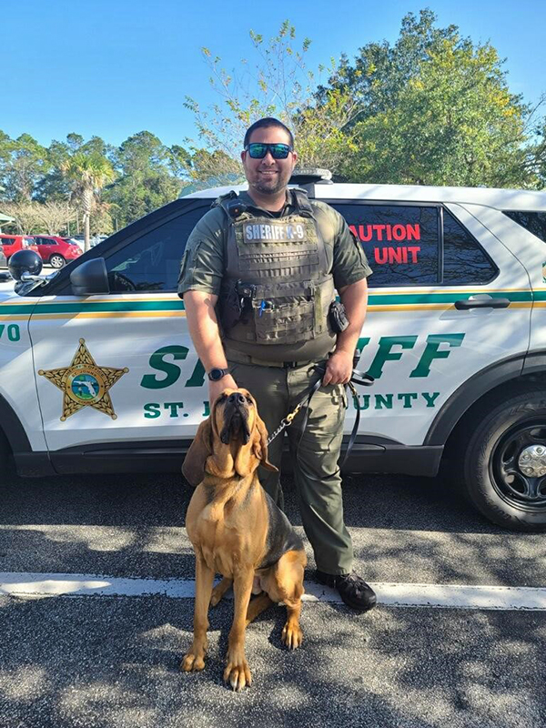 St. Johns County Sheriff's Office Bloodhound Team Dep. Cooper and K9 Star