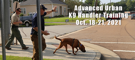 Advanced Urban K9 Training Oct 18-21
