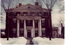 Barnes Mansion in winter.