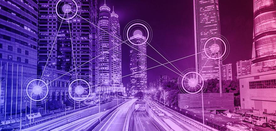 cidade com polos tecnológicos conectados