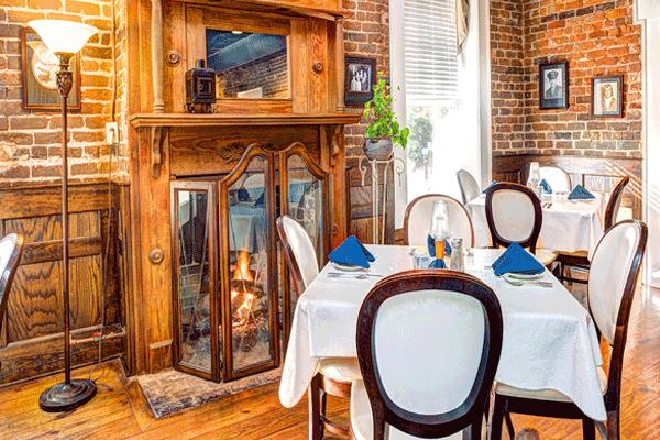 Calhoun Corners Restaurant Interior Fireplace